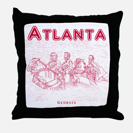 Atlanta_10x10_StoneMountain_Red Throw Pillow