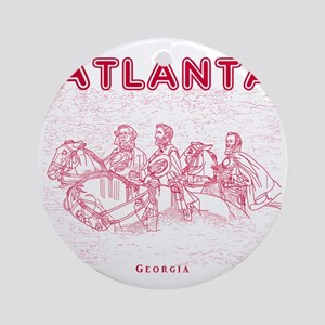 Atlanta_10x10_StoneMountain_Red Round Ornament