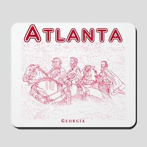 Atlanta_10x10_StoneMountain_Red Mousepad