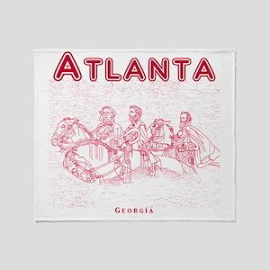 Atlanta_10x10_StoneMountain_Red Throw Blanket