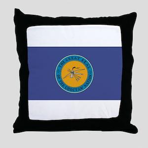 Choctaw Flag Throw Pillow