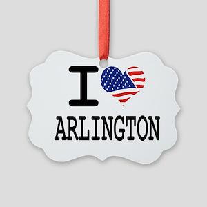 I LOVE ARLINGTON Picture Ornament