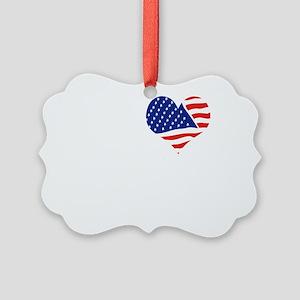 I LOVE ARLINGTON - WHITE Picture Ornament