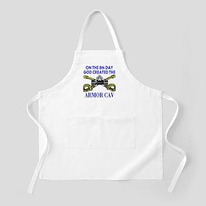 8th Day God Created Armor Cav BBQ Apron
