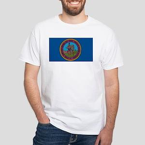 Chickasaw Flag White T-Shirt