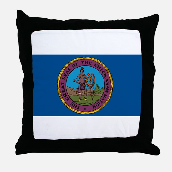 Chickasaw Flag Throw Pillow