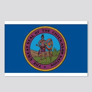 Chickasaw Flag Postcards (Package of 8)
