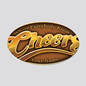 cheers-where-everybody-knows 35x21 Oval Wall Decal