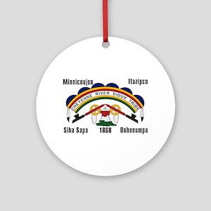 Cheyenne River Sioux Flag Ornament (Round)