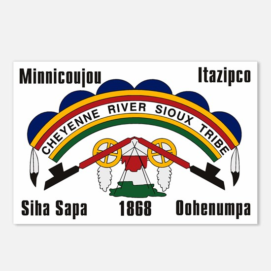 Cheyenne River Sioux Flag Postcards (Package of 8)