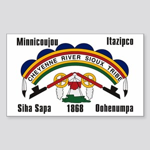 Cheyenne River Sioux Flag Rectangle Sticker