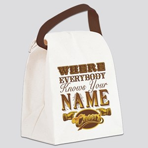 cheers-where-everybody-knows-your Canvas Lunch Bag