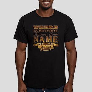 cheers-where-everybody Men's Fitted T-Shirt (dark)