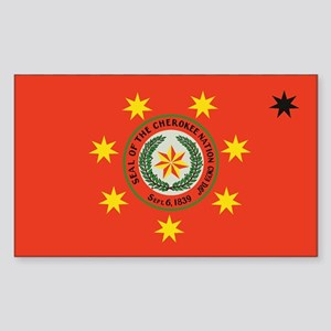 Cherokee Nation Oklahoma Rectangle Sticker
