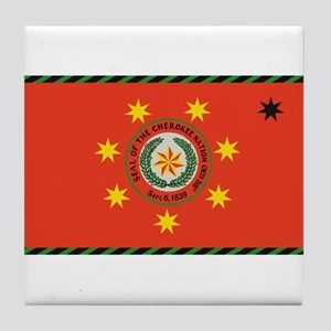 Cherokee Nation Oklahoma Tile Coaster