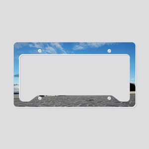 Traditional whitewashed chape License Plate Holder