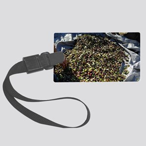 Collecting olives Large Luggage Tag