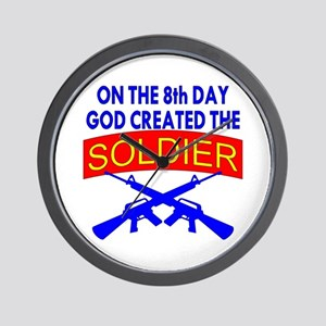 8th Day God Created The Soldier Wall Clock