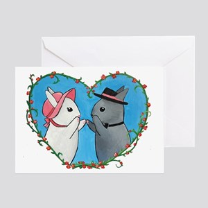 Bunnies Valentine Greeting Card