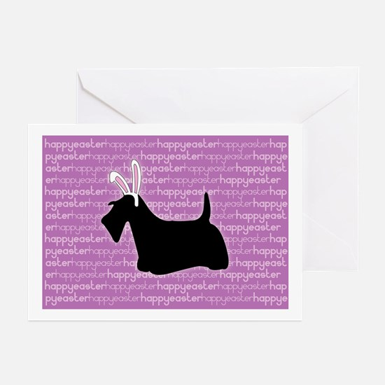 Gifts for scottie dog easter unique scottie dog easter gift scottie bunny greeting cards pk of 10 negle Images