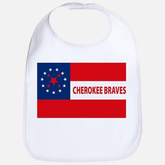 Cherokee Braves Flag Bib