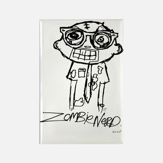 Zombie draw final  Rectangle Magnet