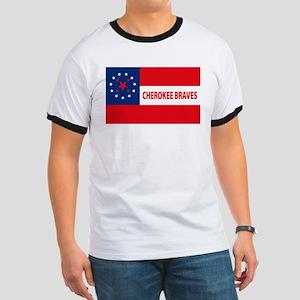 Cherokee Braves Flag Ringer T