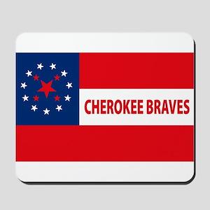 Cherokee Braves Flag Mousepad