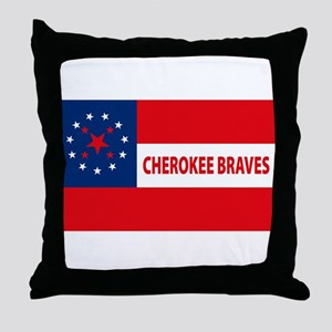Cherokee Braves Flag Throw Pillow