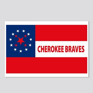 Cherokee Braves Flag Postcards (Package of 8)