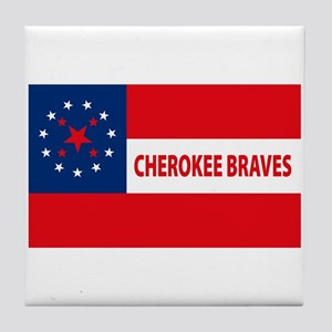 Cherokee Braves Flag Tile Coaster