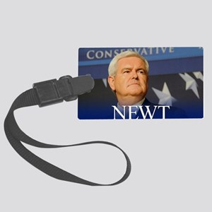 button_newt_photo_01 Large Luggage Tag