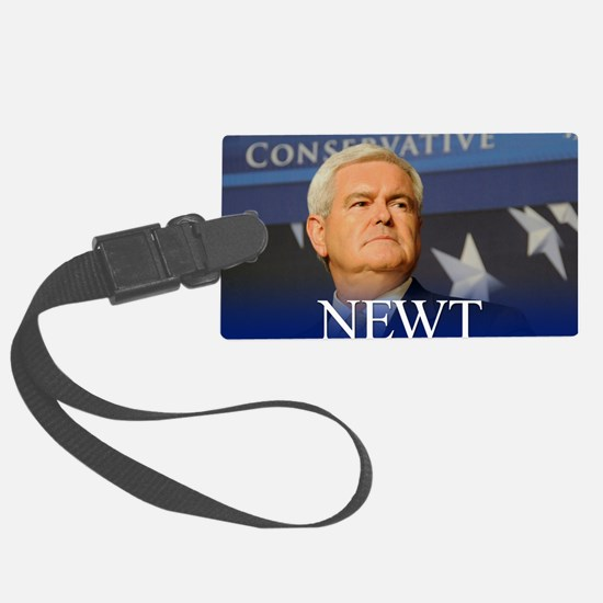 button_newt_photo_01 Luggage Tag