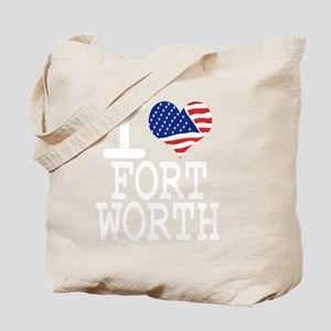 I LOVE FORT WORTH - WHITE Tote Bag