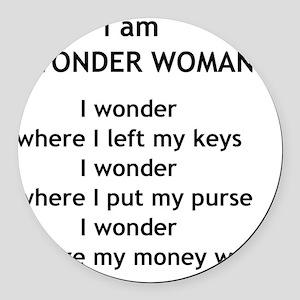 wonderwoman2 Round Car Magnet