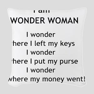 wonderwoman2 Woven Throw Pillow