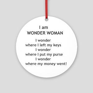 wonderwoman2 Round Ornament