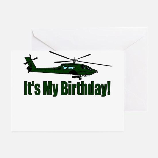 Army Helicopter Birthday Party Invitations (Pkg o