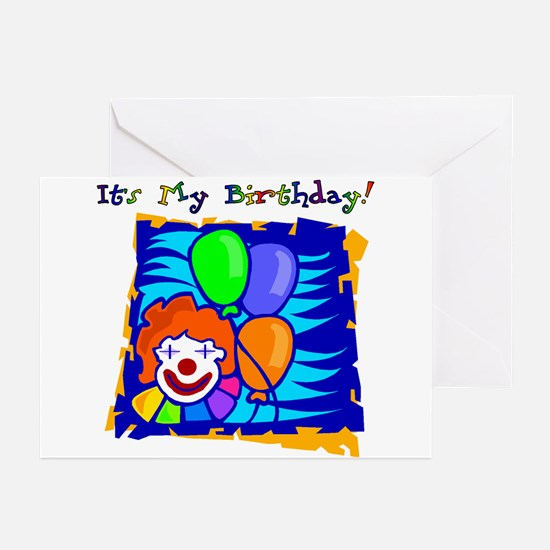 Bright Clown Birthday Party Invitations (Pk of 10