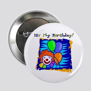 Bright Clown Birthday Button