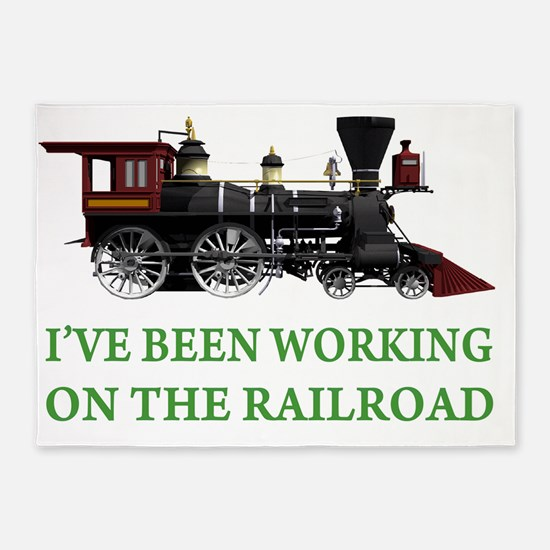 IVE BEEN WORKING ON THE RAILROAD GR 5'x7'Area Rug
