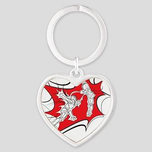 10x10_epee_Splash1-Wht Heart Keychain