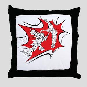 10x10_epee_Splash1-Wht Throw Pillow