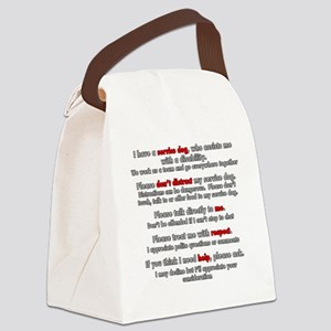 Service Dog Etiquette Canvas Lunch Bag