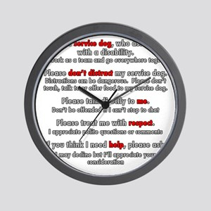 Service Dog Etiquette Wall Clock
