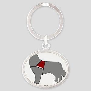 PDPM Dog (Grey) Oval Keychain