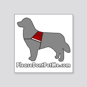 "PDPM Dog (Grey) Square Sticker 3"" x 3"""