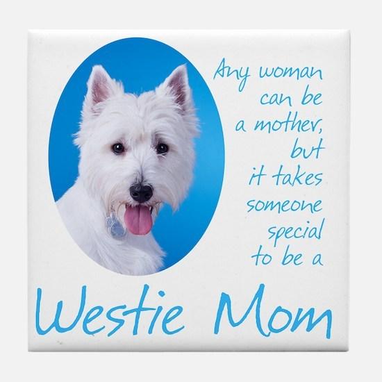 Westie Mom Tile Coaster
