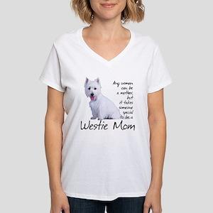 Westie Mom Women's V-Neck T-Shirt