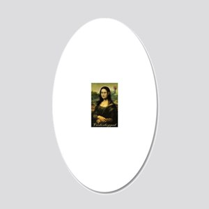 Cafe Press Mona Lisa with mo 20x12 Oval Wall Decal
